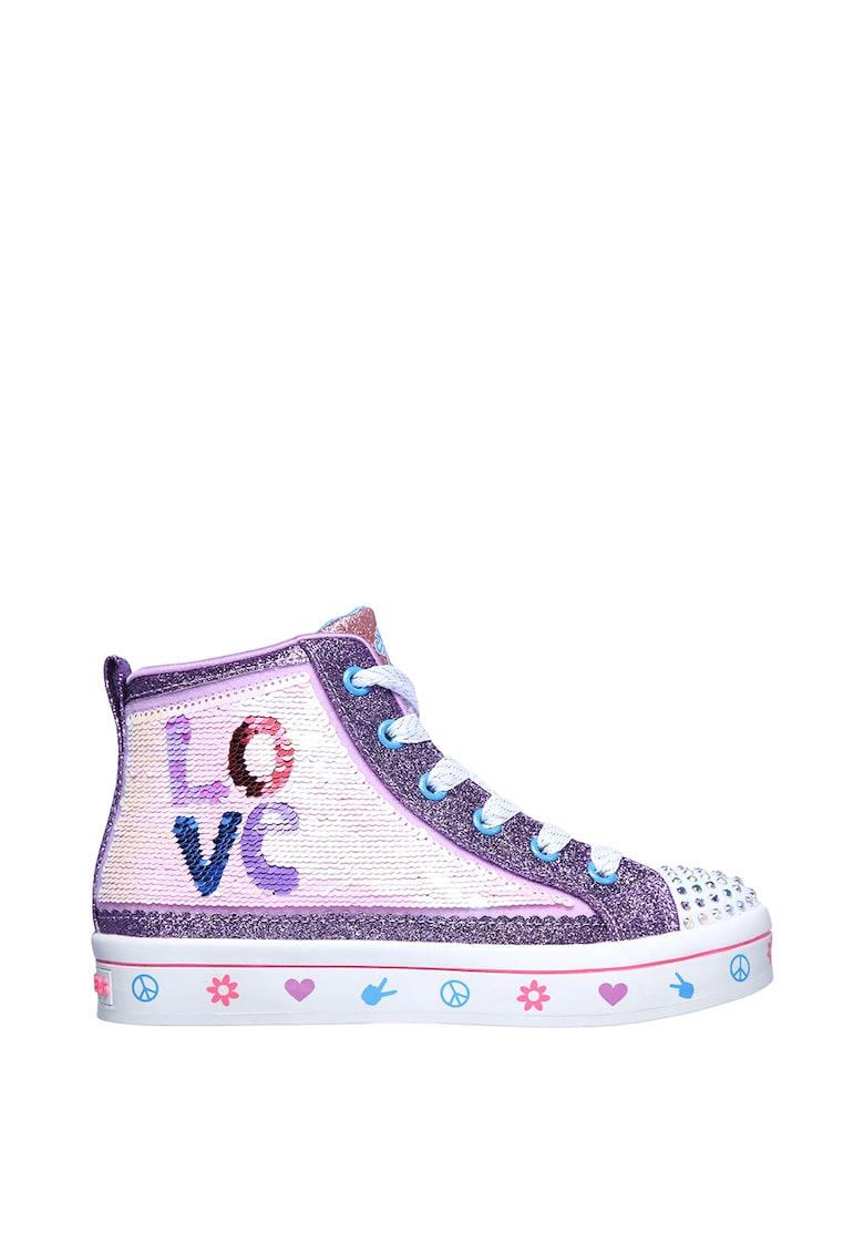 Tenisi inalti Flip Kicks: Twi-Lites 2.0 - Lilac Love poza fashiondays