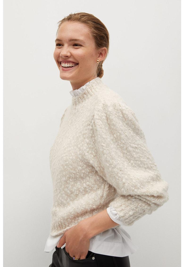 Pulover din amestec de lana cu guler inalt Nadia