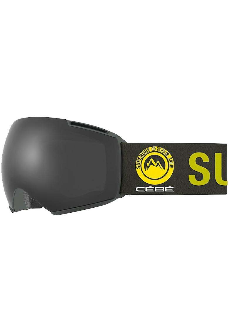 Ochelari schi Icone - lentila S3 Matt Rosin Grey Ultra Black + lentila S1 Amber Flash Mirror