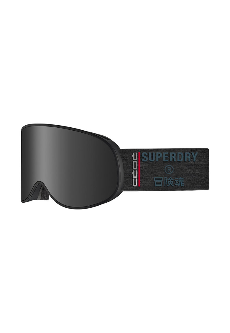 SUPERDRY Ochelari schi  Attraction - lentila S3 Matt Black Grey Ultra Black + lentila S1 Amber Flash Mirror