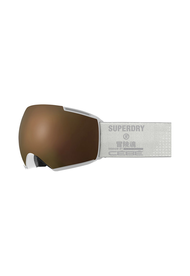 SUPERDRY Ochelari schi  Icone - lentila S3 Matt White Dark Rose Flash Gold + lentila S1 Amber Flash Mirror