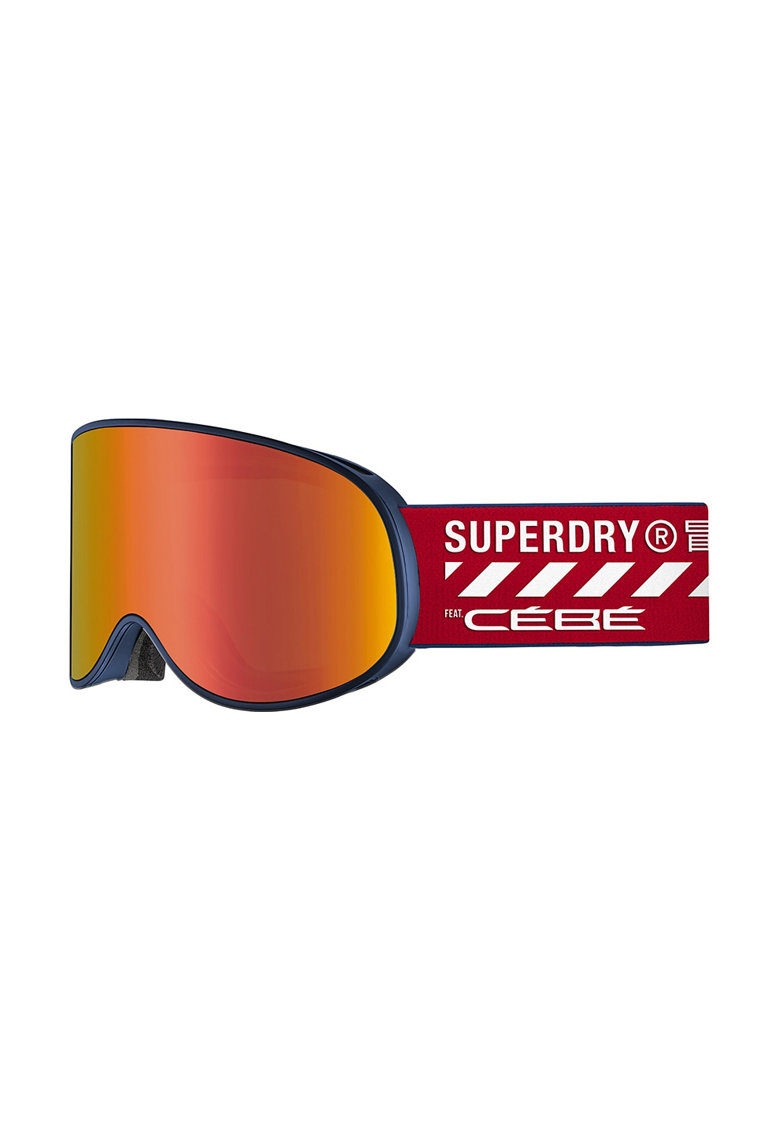 SUPERDRY Ochelari schi  Attraction - lentila S3 Matt Blue Salsa Grey Flash Red + lentila S1 Amber Flash Mirror