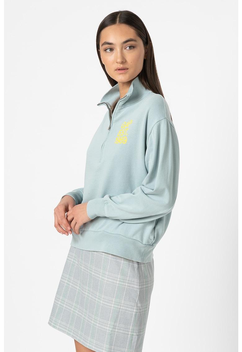 Bluza sport cu fenta cu fermoar poza fashiondays