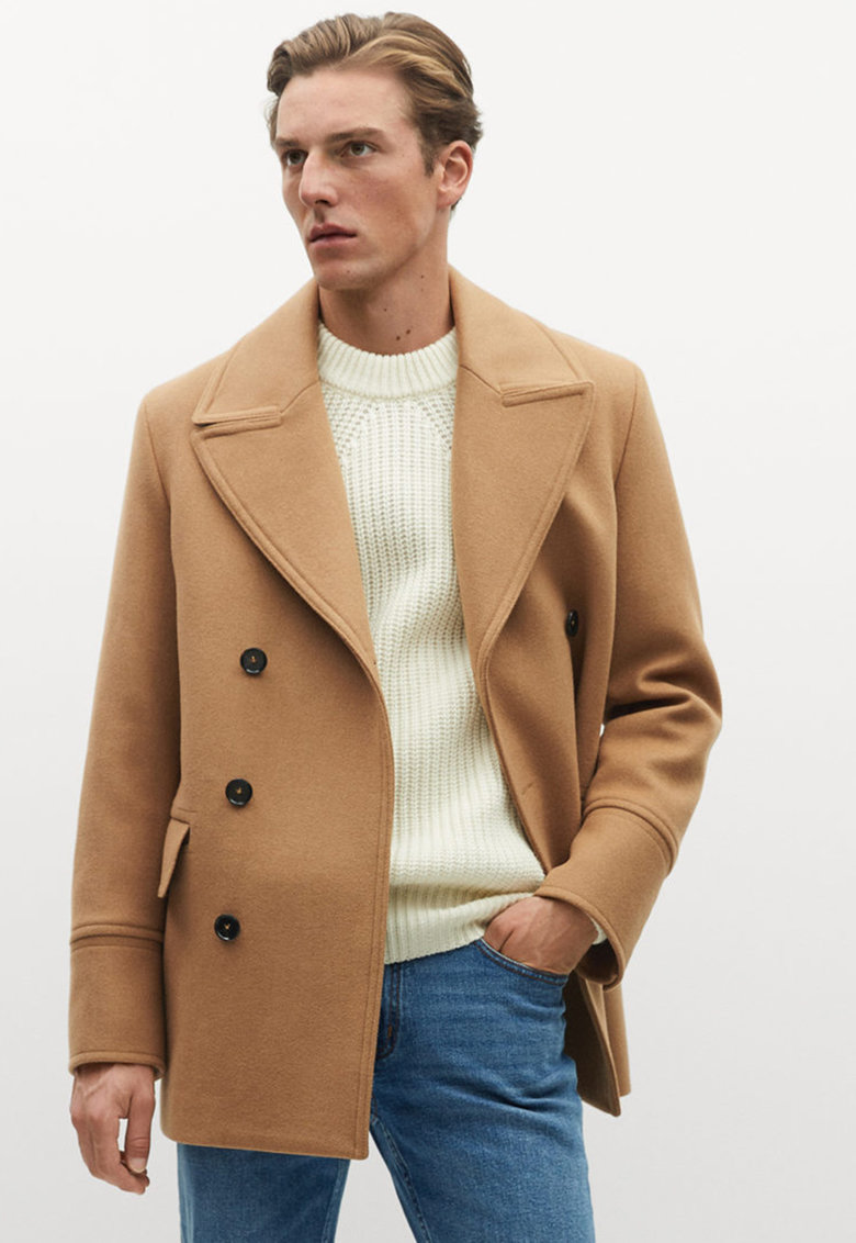 Palton din amestec de lana Tinof