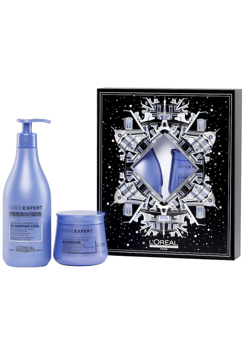 Set pentru ingrijirea parului blond L'Oréal Professionnel Serie Expert BLONDIFIER: Sampon cu pigment neutralizator 500ml + Masca reparatoare 250ml