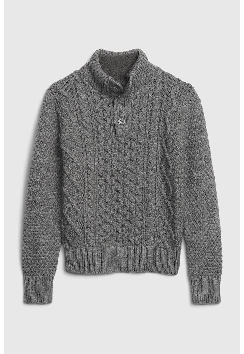 GAP Pulover din amestec de lana cu model torsade