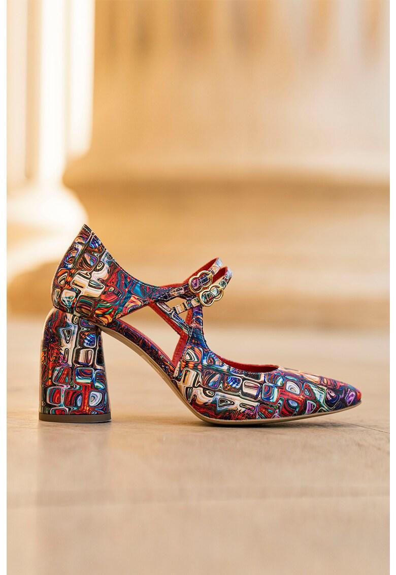Pantofi de piele cu talpa masiva Fantasy