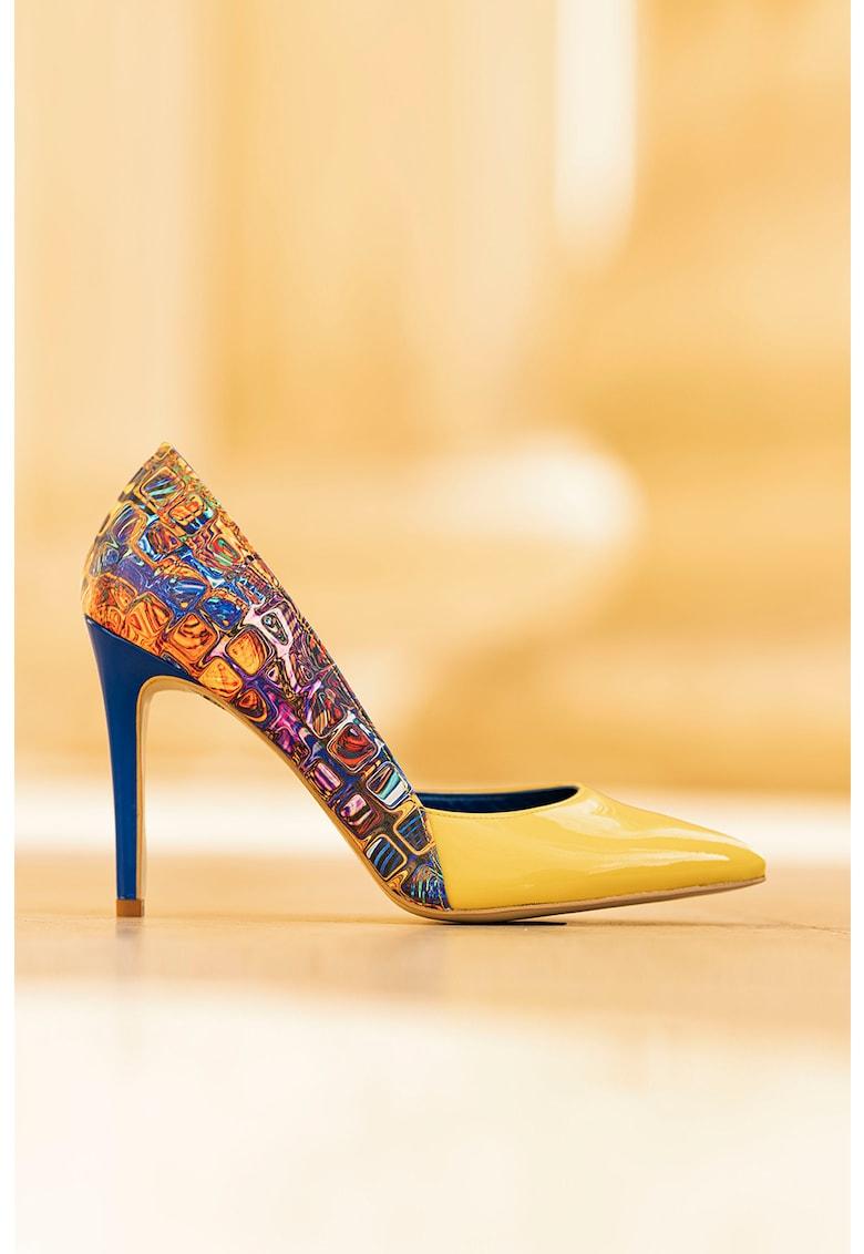 Pantofi d'Orsay de piele - cu imprimeu Aime