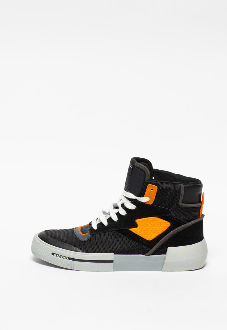 Pantofi sport cu insertii din piele intoarsa Dese