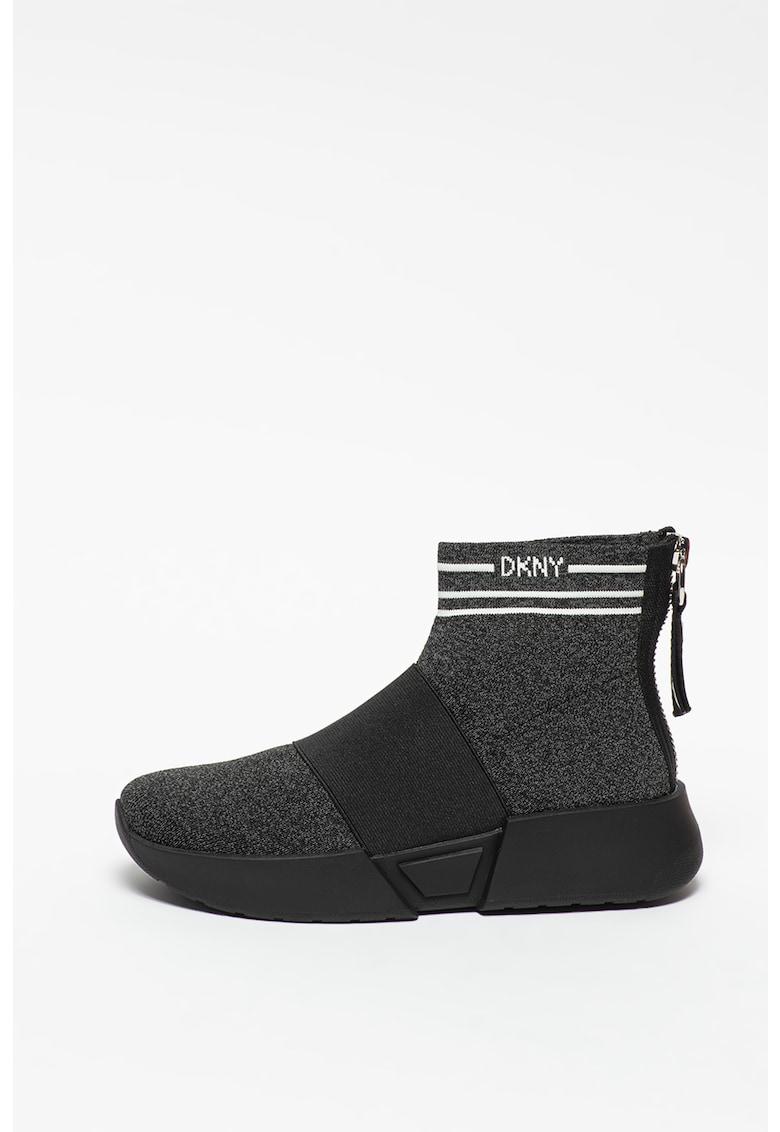 Pantofi sport cu fermoar si model tip soseta Marini