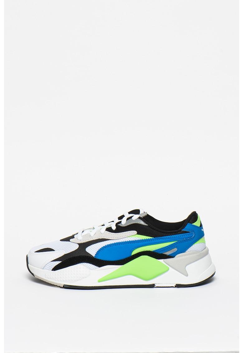 Pantofi sport cu insertii de piele ecologica RS-X³ Puzzle Soft Puma imagine 2021