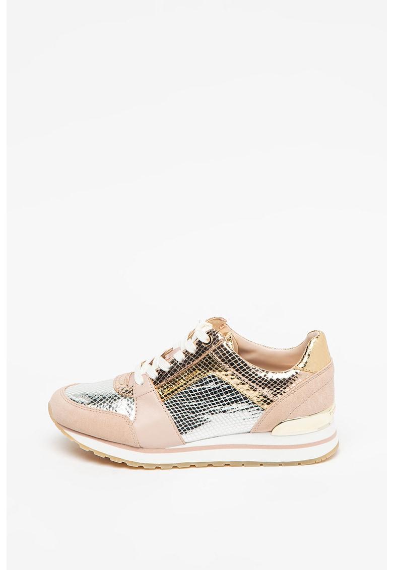 Pantofi sport de piele si piele intoarsa Billie Michael Kors fashiondays.ro