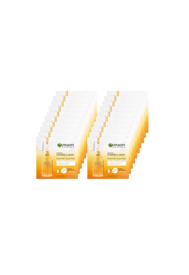 Garnier Pachet promo : 20 x Masca servetel Fresh-Mix Vitamin C - 33 g