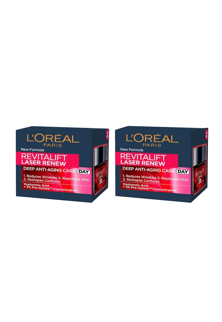 LOreal Paris Pachet promo : 2 x Crema antirid de zi Revitalift Laser Renew - 50 ml