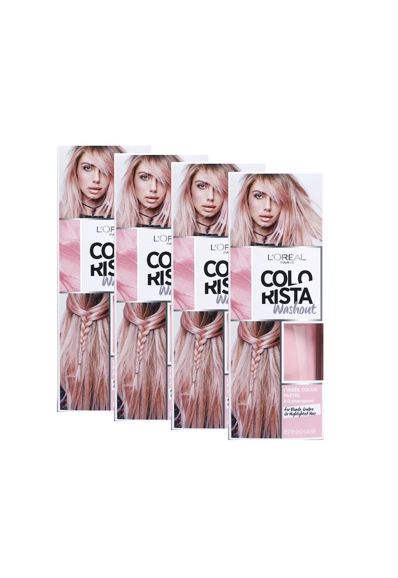 Pachet promo : 4 x Vopsea de par gel permanenta Colorista Washout Pink - 80 ml de la LOreal Paris