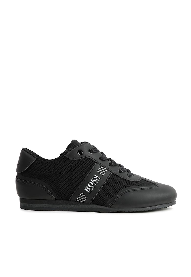 Pantofi sport cu garnituri de piele ecologica