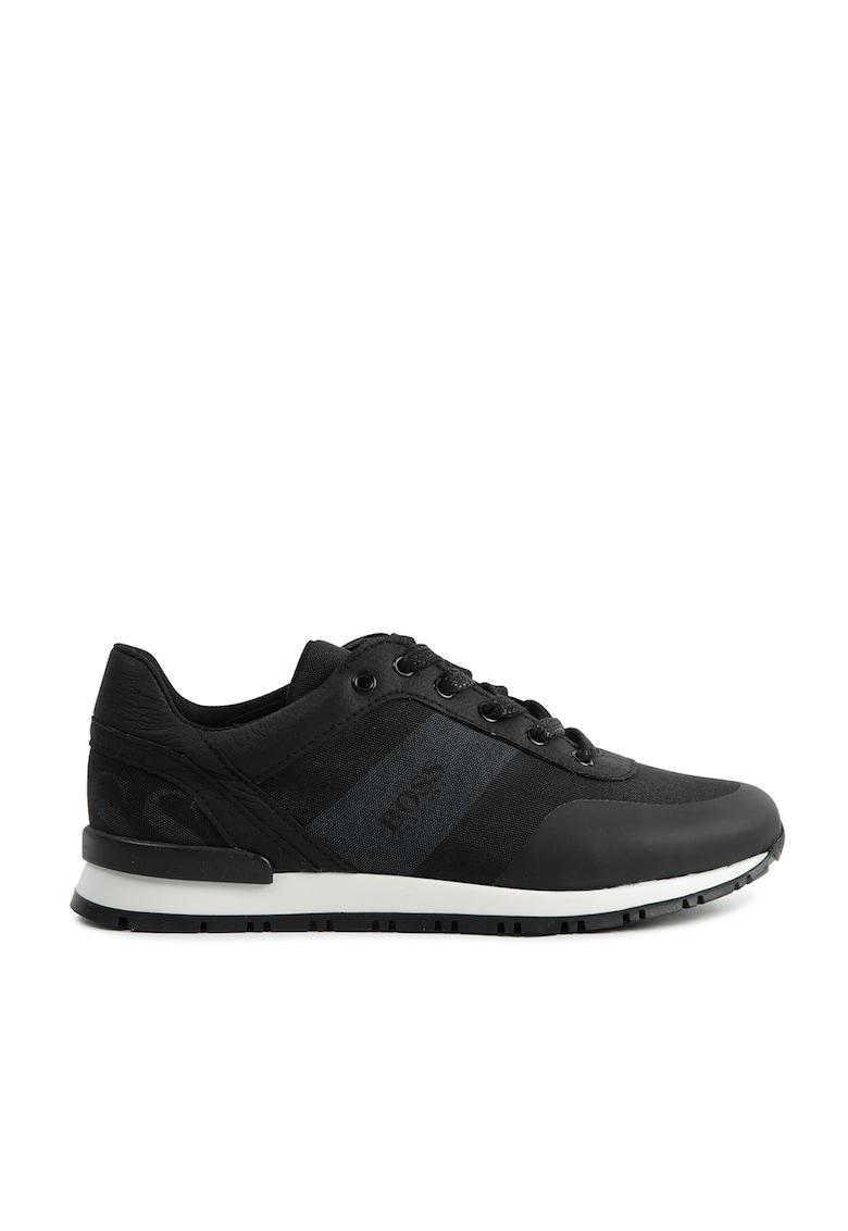 Pantofi sport cu detalii de piele ecologica