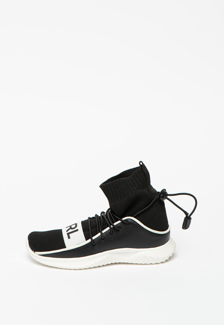 Karl Lagerfeld Pantofi sport high-top tip soseta tricotata - de piele si material textil