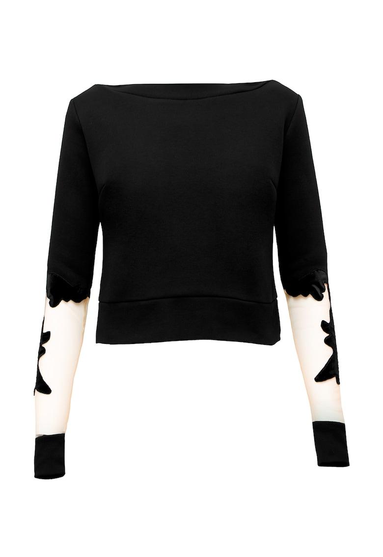 Bluza sport cu insertii din plasa Canvas imagine