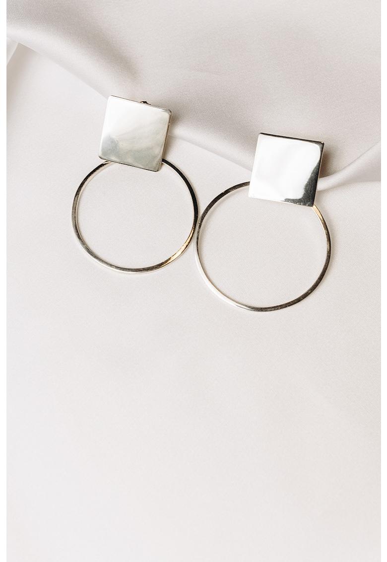 Cercei rotunzi de argint 925 Plattitude imagine fashiondays.ro