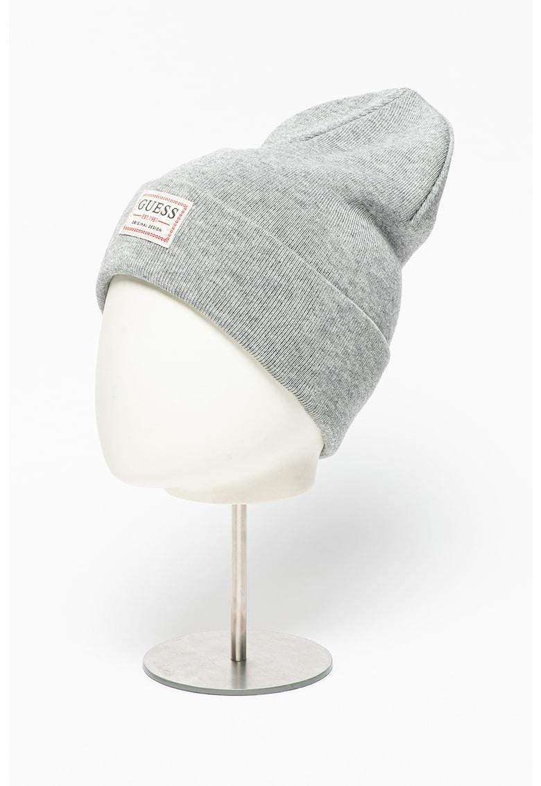Caciula din amestec de lana cu aplicatie logo imagine