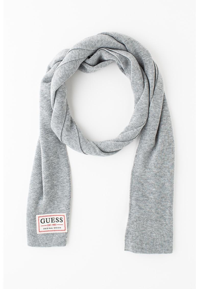 Fular circular tricotat fin din amestec de lana poza fashiondays