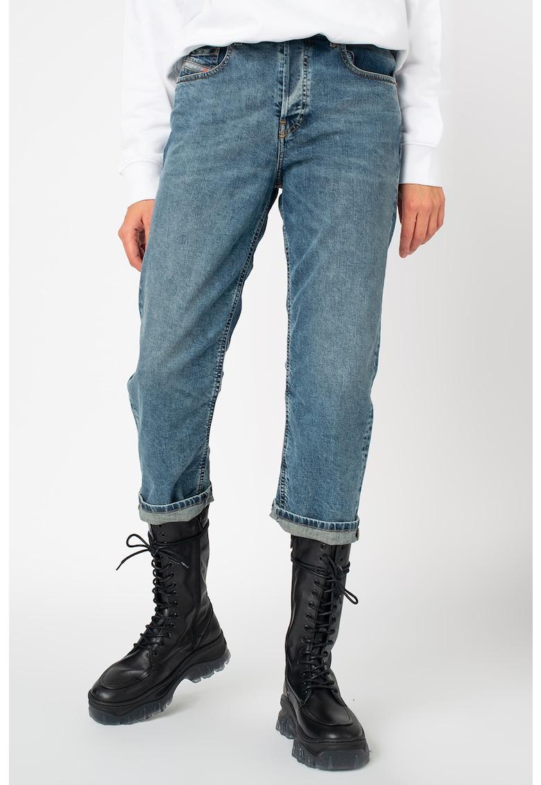 Blugi capri straight fit - din amestec de lyocell - cu 5 buzunare Aryel poza fashiondays