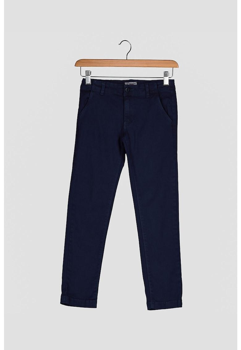 Pantaloni din amestec de bumbac poza fashiondays