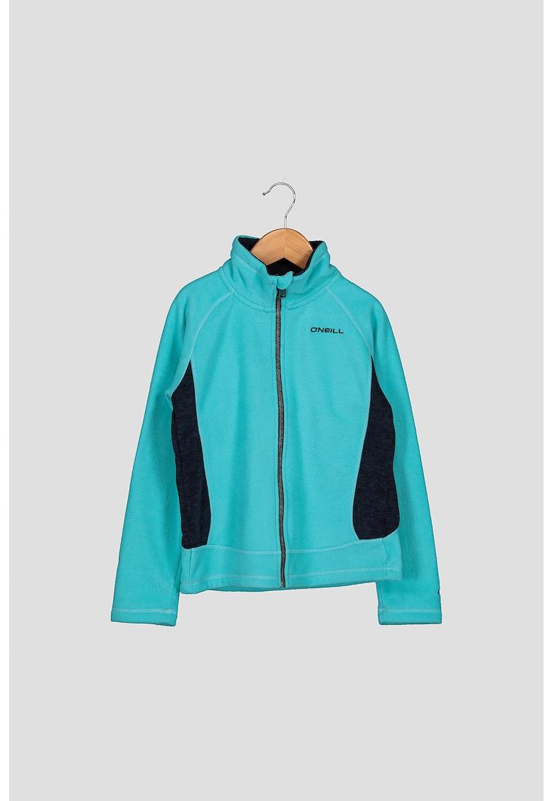 Bluza sport din material fleece cu fermoar Slope