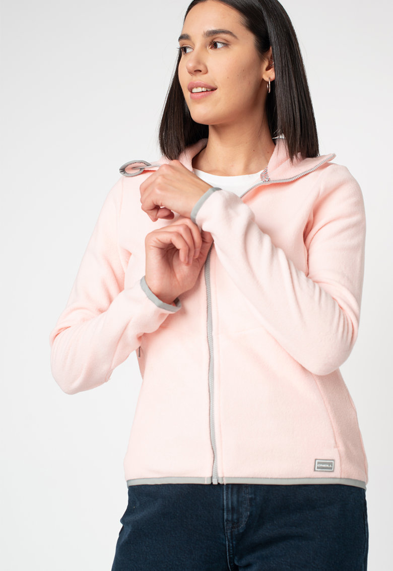 Bluza sport din material fleece cu fermoar Ventilator imagine