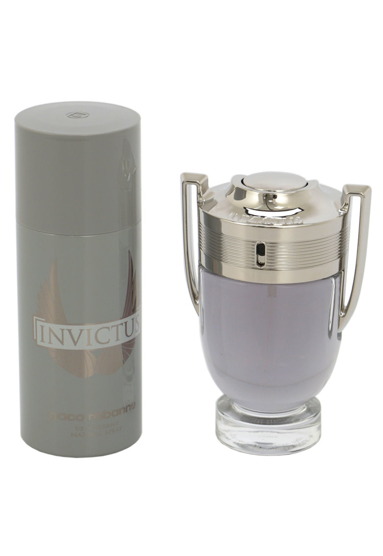 Paco Rabanne Set  Invictus - Barbati: Apa de Toaleta - 100 ml + Deodorant Spray - 150 ml