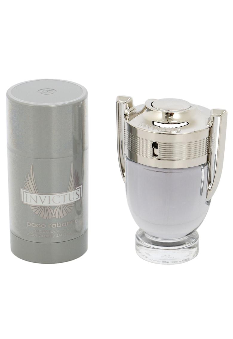 Paco Rabanne Set  Invictus - Barbati: Apa de Toaleta - 50 ml + Deodorant stick - 75 ml