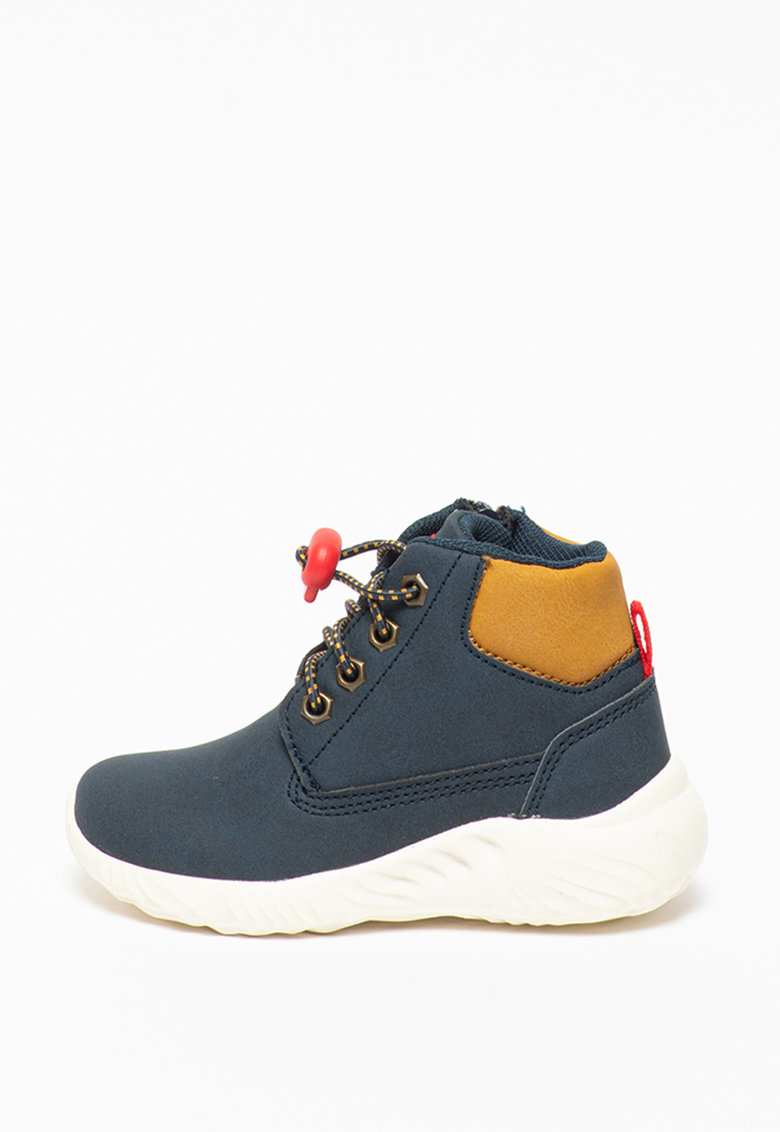 Pantofi sport de piele ecologica - cu fermoar