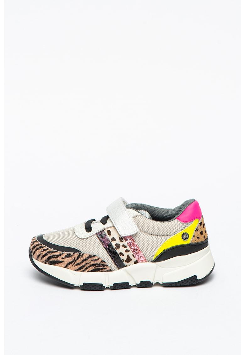 Pantofi sport cu garnituri din piele cu par scurt Preetz