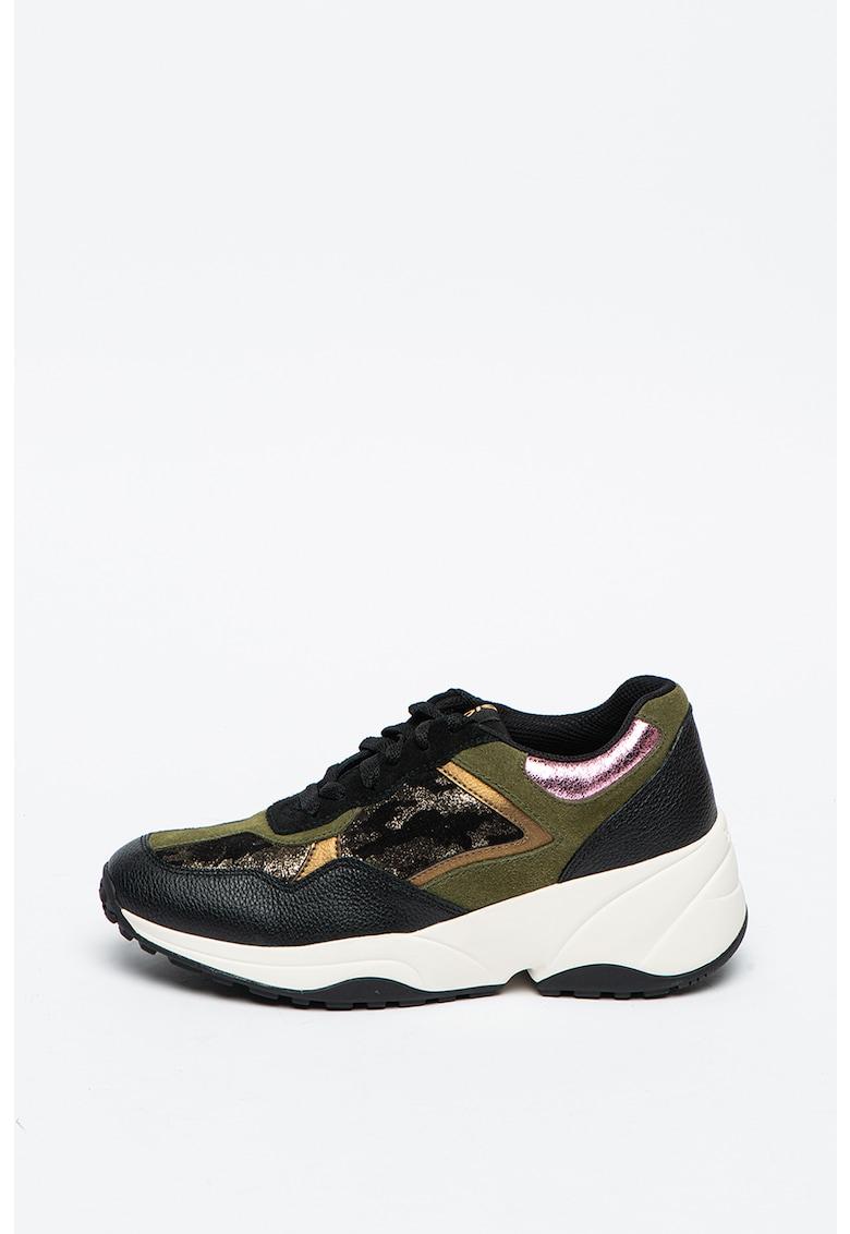 Pantofi sport din piele cu aspect masiv Kansk