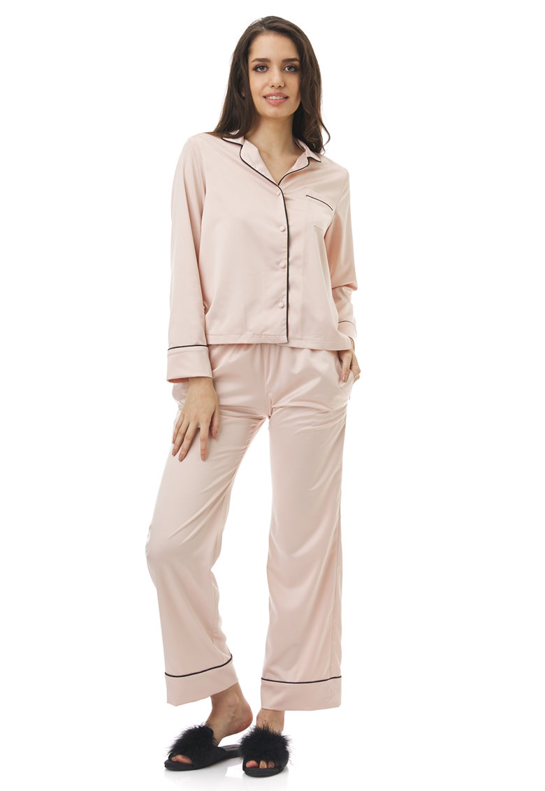 Pijama cu buzunar pe piept Coco poza fashiondays