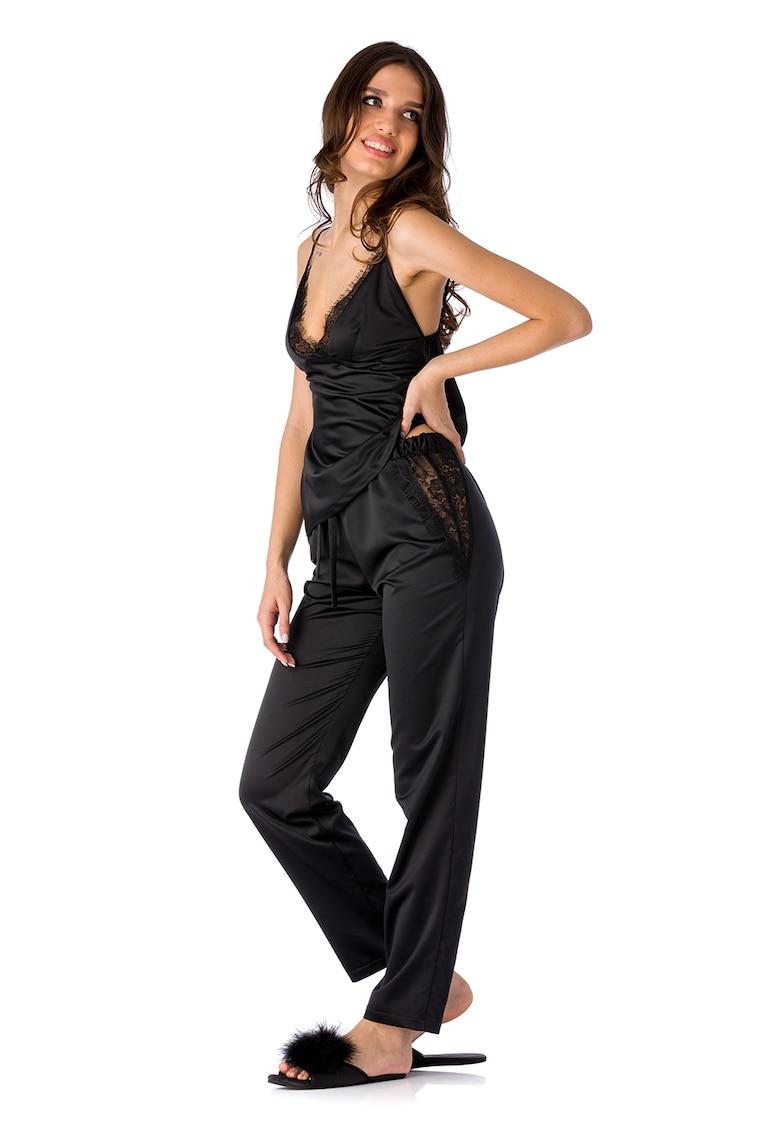 Pijama cu garnituri de dantela Lily poza fashiondays