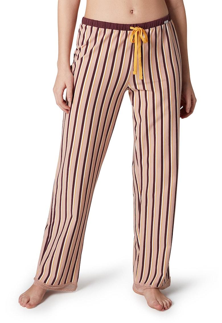 Pantaloni de pijama cu model in dungi