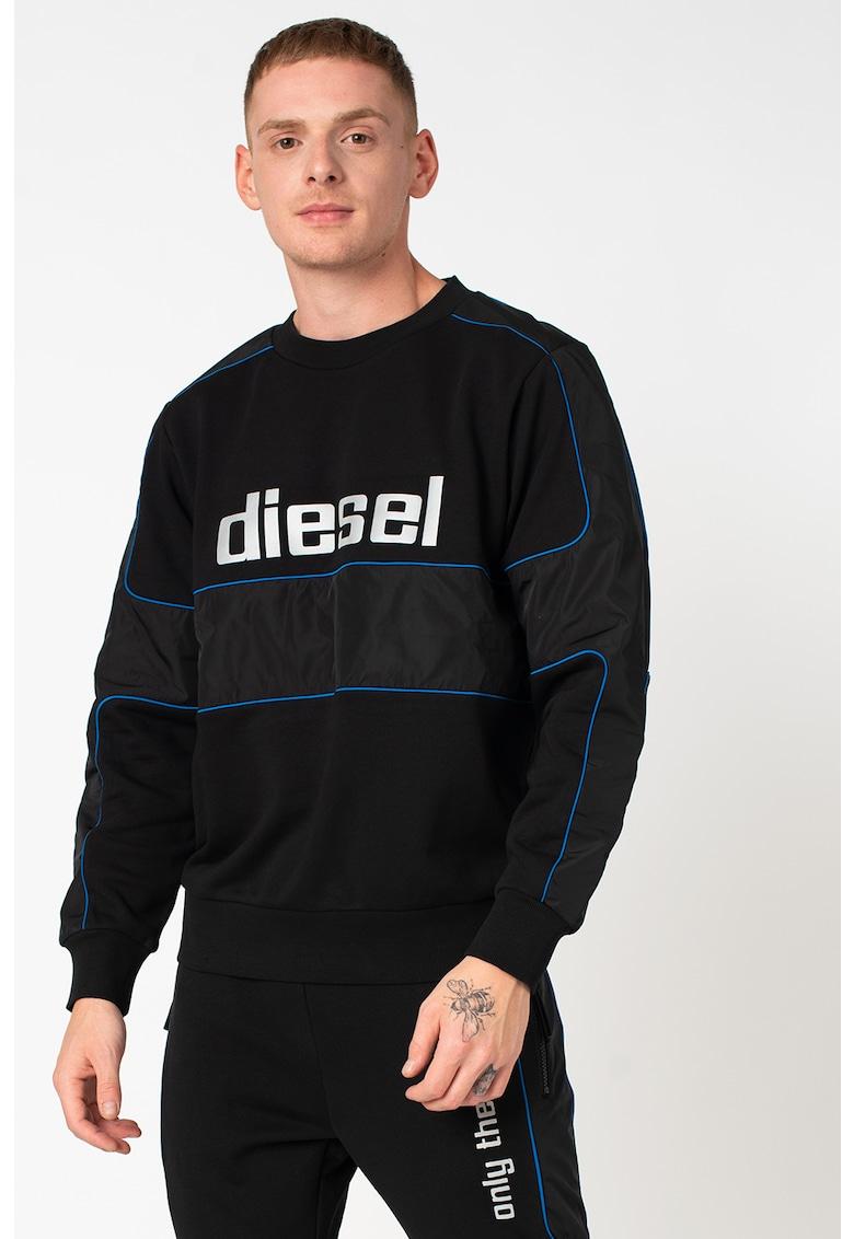 Bluza sport cu imprimeu logo S-Lain