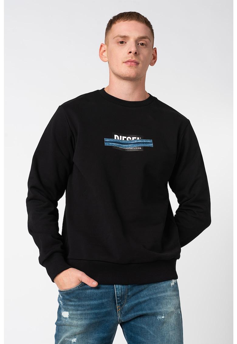Bluza sport cu imprimeu logo discret S-Girk imagine
