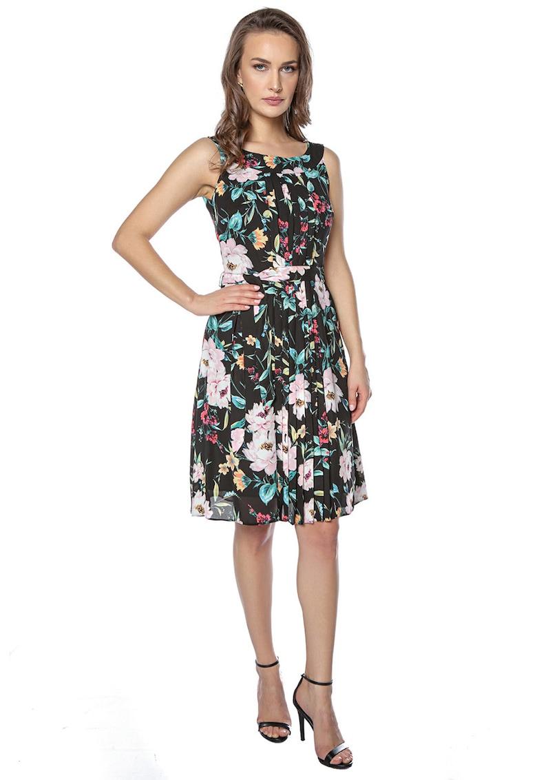 Rochie mini evazata cu imprimeu floral