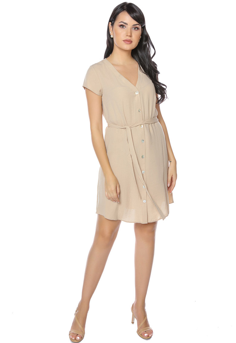 Rochie mini evazata Miss One fashiondays.ro