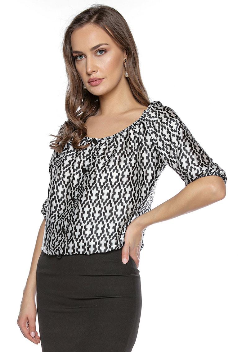 Bluza cu model geometric