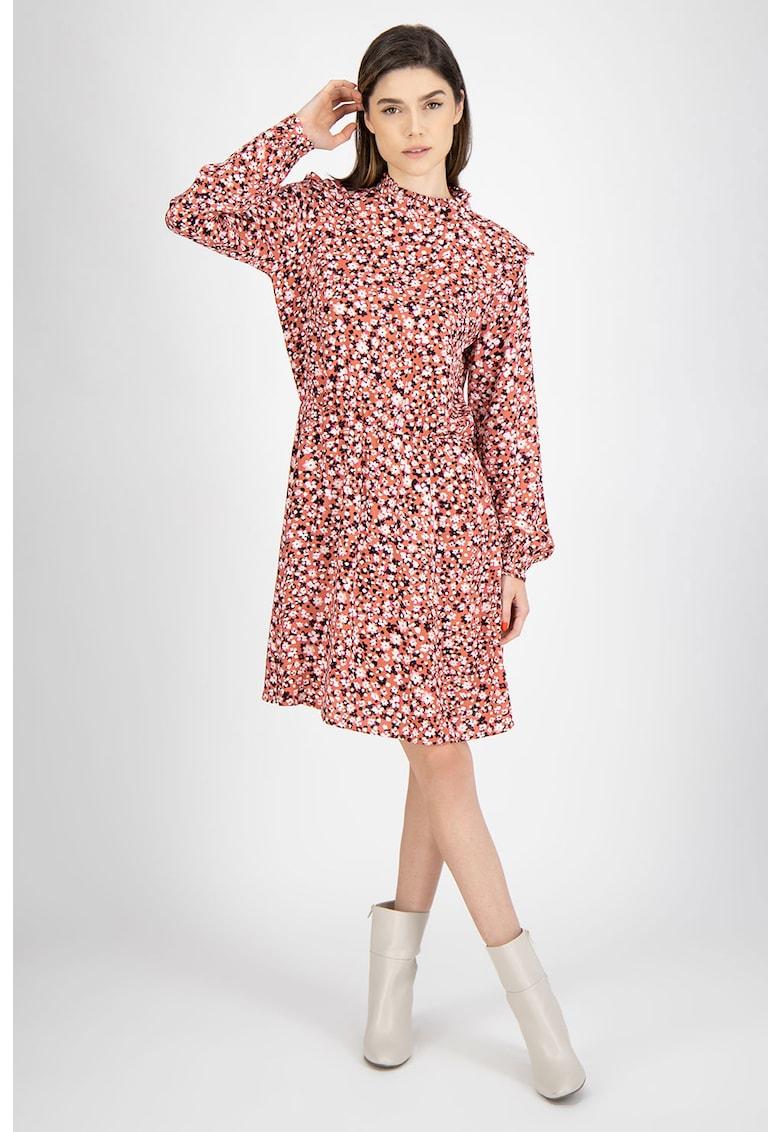 Rochie midi cu model floral