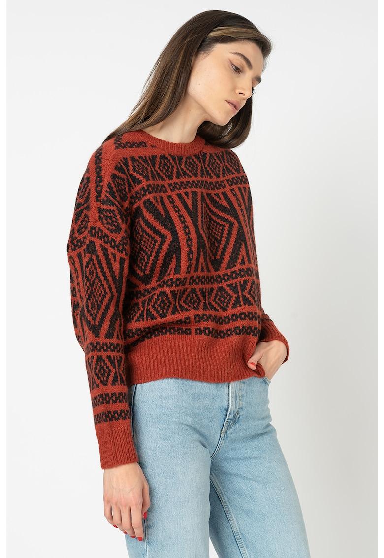 Only Pulover din amestec de lana cu imprimeu geometric
