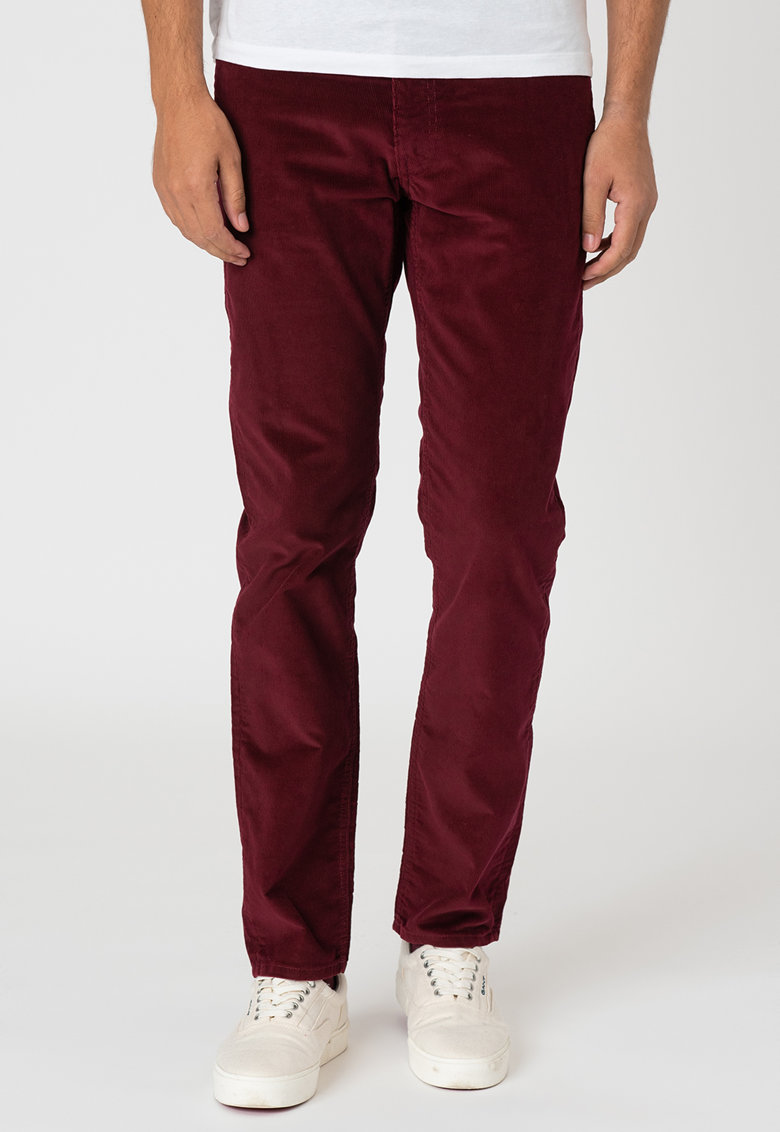 Pantaloni slim fit drepti imagine promotie