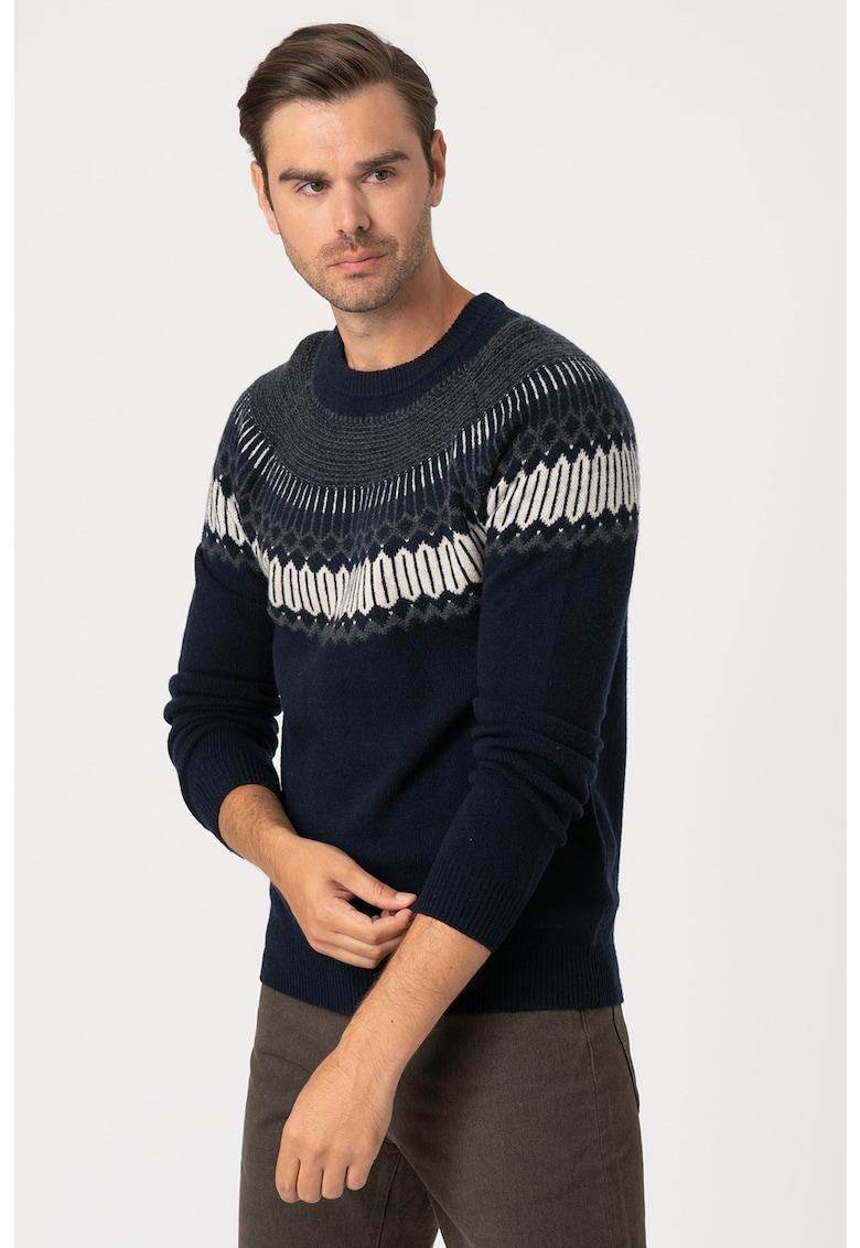 Pulover din amestec de lana si casmir Fairisle