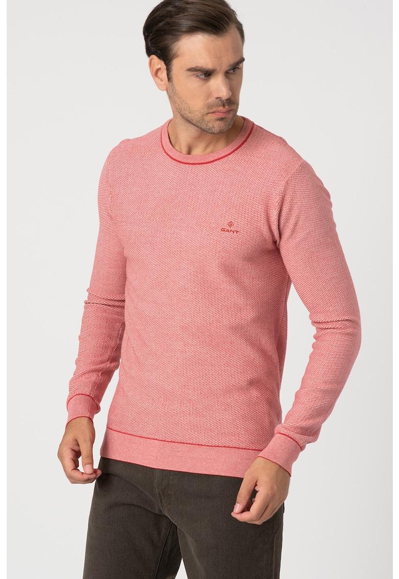 Bluza texturata cu logo discret imagine