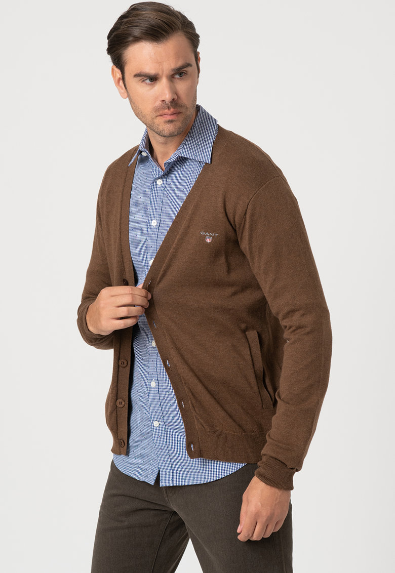 Cardigan din amestec de lana - tricotat fin