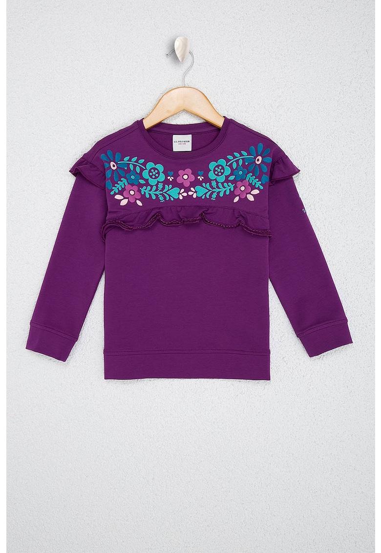 Bluza sport cu model floral